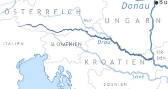 Drava - Image: Drau river