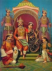 Draupadi and Pandavas.jpg