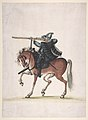 Drawing of a Mounted Arquebusier (Soldier on Horseback) MET DP810583.jpg