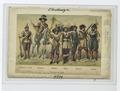 Dreissigjäriger Krieg. Arkabusier zu Pferd, Trompeter, Fähnrich, Officier, Musketier, Pikenier. 1630 (NYPL b14896507-89818).tif