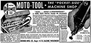 Dremel - 1947 advertisement for the Dremel Moto-Tool