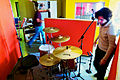 Drum mic setting in progress, Guy and Florian, Marc Morgan album recording, LowSwing studio, Berlin, 2011-01-22 12 26 02.jpg