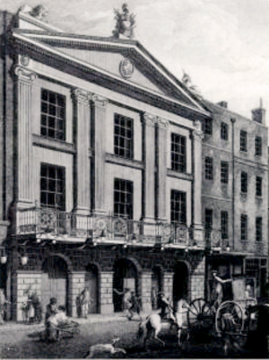 Miles Peter Andrews - Drury Lane Theatre in 1775