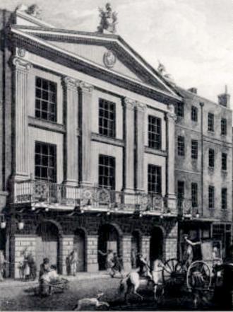 Miles Peter Andrews - Drury Lane Theatre in 1775