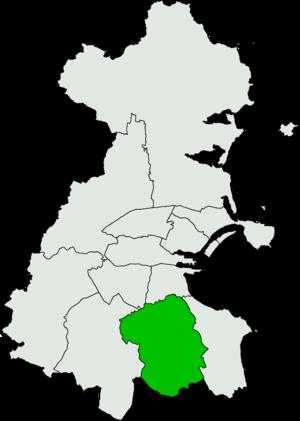 Dublin South by-election, 2009 - Image: Dublin South Dáil Éireann constituency
