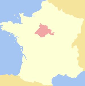 Orléanais - Image: Duchy of Orléanais