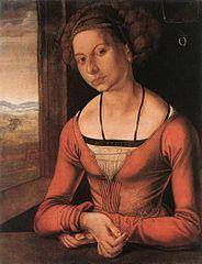 Jeune femme, les cheveux tressés