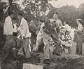 Dutch officer shovelling dirt into Sudirman's grave, Kenang-Kenangan Pada Panglima Besar Letnan Djenderal Soedirman, p21.jpg