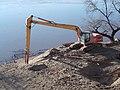 E215 tracked excavator, Danube, 2020 Zebegény.jpg