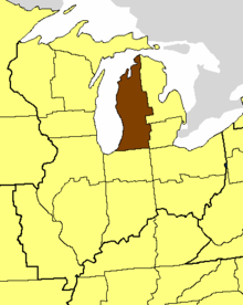 Location of the Diocese of Western Michigan