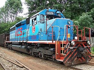 EMD SD40 - GMD SD40 KCSM 3029 in Caltzonzin Station