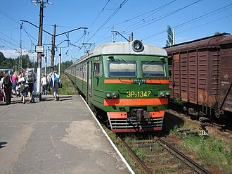 Saint Petersburg–Hiitola railway - Elektrichka at Vaskelovo