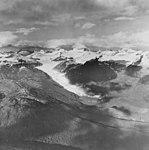 Eagle Glacier, valley glacier terminus and icefield, September 18, 1972 (GLACIERS 6062).jpg