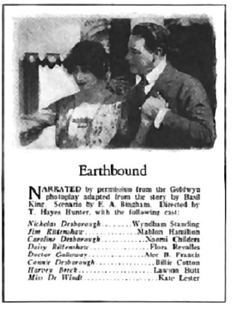 Earthbound (1920 film) -  From Photoplay Magazine, November 1920