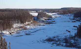 Eastmain River - Eastmain River in Dec. 2005 at the James Bay Road.