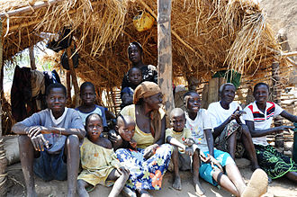 Karonga - Edicas Nachinga and her grandchildren in Karonga, 2010