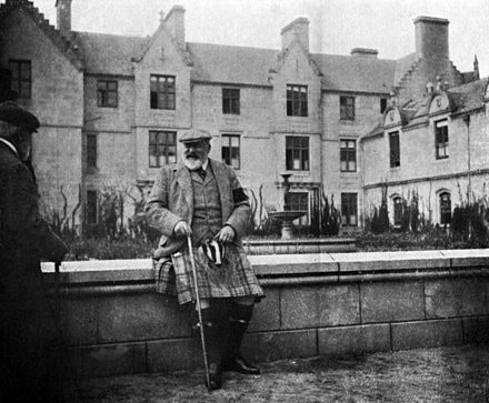 Edward VII relaxing at Balmoral Castle, photographed by his wife, Alexandra EdwardVII at Balmoral.jpg