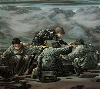Graeae - Perseus and the Graeae by Edward Burne-Jones (1892)