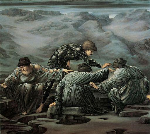 Edward Burne-Jones - Perseus and the Graiae, 1892