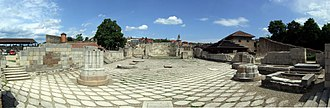 Eger - The ruins of the Romanesque basilica in the Eger Castle