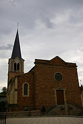 The church in Perreux