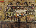 Egon Schiele - House Wall on the River - Google Art Project.jpg