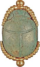 Egyptian - Scarab from Egyptian-Style Necklace - Walters 57153013 - Back.jpg