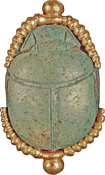 File:Egyptian - Scarab from Egyptian-Style Necklace - Walters 57153013 - Back.jpg
