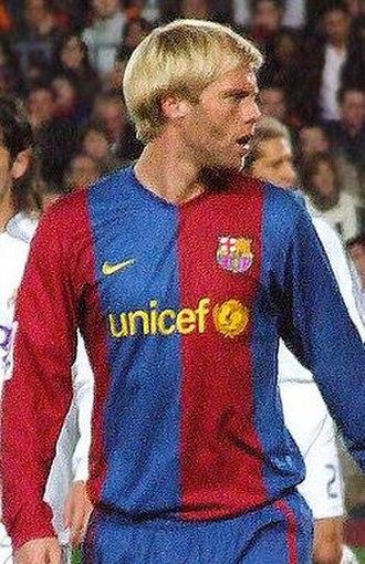 Eiður Guðjohnsen - Eiður Smári while playing for Barcelona in 2007