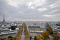 Eiffel Tower, view from the Arc de Triomphe.jpg