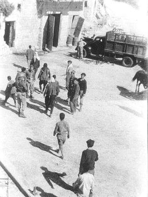 Ein al-Zeitun massacre - Ein al-Zeitun. Yiftach Brigade with prisoners. 1948