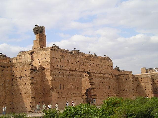 Palacio El Badí, antigua mansión del sultán, hoy en ruinas