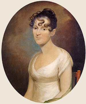 Elizabeth Wirt - Portrait of Elizabeth Wirt, painted ca. 1809–10 by Cephas Thompson. Collection of the National Portrait Gallery, Smithsonian Institution.