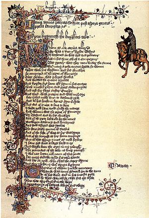 Ellesmere Chaucer - Image: Ellesmere Manuscript Knight Portrait
