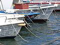 Embarcaciones amarradas, Puerto de Lipari, Islas Eolias, Sicilia, Italia, 2015.JPG