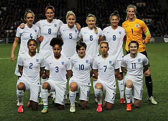 England women's national football team - England women's team in February 2015
