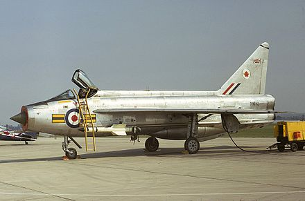 A Royal Air Force Lightning F.1A at Yeovilton, 8 September 1973 - English Electric Lightning