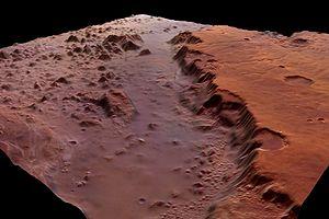 Eos Chasma - Image: Eos Chasma perspective view ESA205551