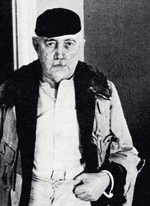 Eric Hermelin - Eric Hermelin in his sheepskin coat, ca. 1940