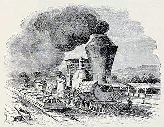 James Bowen (railroad executive) - Erie Locomotive in 1840s.