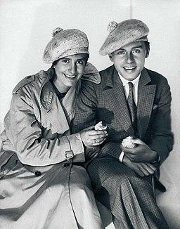 Erika Mann und Klaus Mann, 1927. Foto von Eduard Wasow