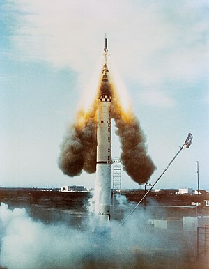 1960 in spaceflight - The launch escape system fires following the failed launch of Mercury-Redstone 1