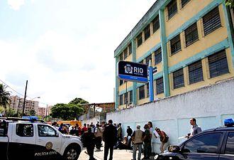 Realengo - Municipal School Tasso da Silveira after the Rio de Janeiro school shooting
