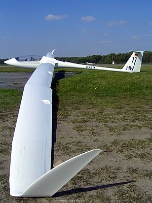 Aspect ratio (aeronautics) - Extremely high aspect ratio wing (AR=51.33) of the Eta motor glider providing a L/D ratio of 70