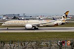 Etihad Airways, A6-BLF, Boeing 787-9 Dreamliner (30357875337).jpg
