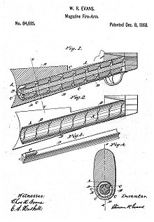 Evans repeating rifle wikipedia w r evans patent 1868 ccuart Choice Image