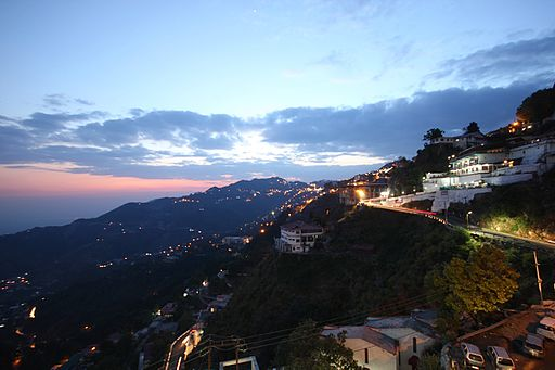 Evening at Mussoorie - Hill Stations Near Delhi