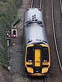 Exmouth Junction - GWR 158760 shunting to siding.JPG