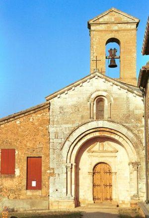 Aigaliers - The church in Aigaliers