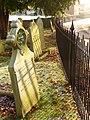 Eyton upon the Weald Moors, gravestones and churchyard railings - geograph.org.uk - 1627289.jpg
